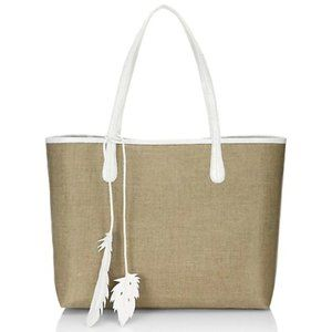 Nancy Gonzalez  Crocodile-Trimmed Canvas Tote Bag